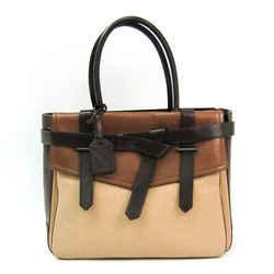 Reed Krakoff 20314 Leather Tote Bag Beige,brown Bf503790