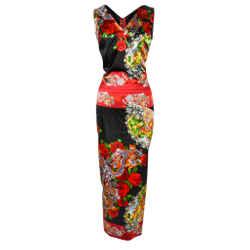 Dolce&gabbana Collectors Dress Asian Print Rear Detail 40 / 4