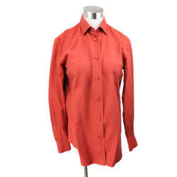 Loro Piana Brick Red Silk Blouse Size 6