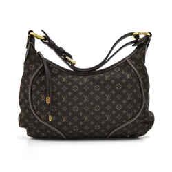 Louis Vuitton Manon Pm Ebene Monogram Mini Idylle Canvas Shoulder Bag Lt682
