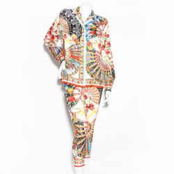 D&g Silk Print Pantsuit