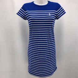 Polo Ralph Lauren Blue Short Sleeve Dress Medium
