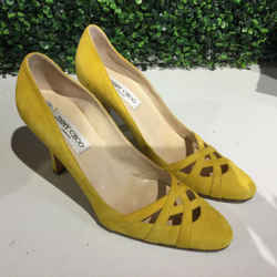 JIMMY CHOO YELLOW HEELS | 9.5