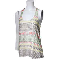 Parker Silk Beaded Tank Top/Cami Multi