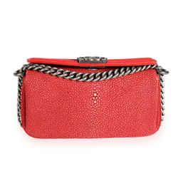 Chanel Red Stingray & Calfskin Boy Crossbody Bag