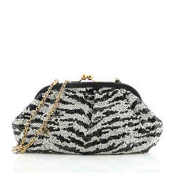 Star Frame Clutch Sequins Small