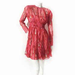 Valentino Zandra Rhodes Lipstick Dress