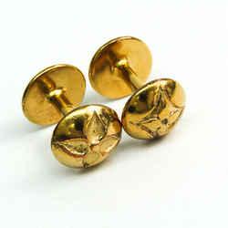 Louis Vuitton Metal Cufflinks Gold Flower Buton De Manchette M30974 Bf513358