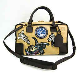Loewe Amazona 36 Oro Suede Technodrome Women's Suede,Leather Handbag Be BF506737