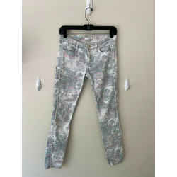 $325 Iro Ss13 Damia Camo Paint Splatter Printed Skinny Jeans Sz 26