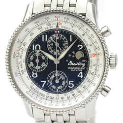 Polished BREITLING Montbrillant Olympus Moonphase Syeel Watch A19850 BF533596