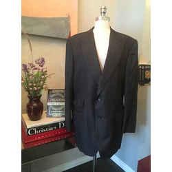 Tom Ford Size 60 R Gray Wool Silk Sport Coat - 42-102-101519