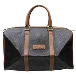 Dior Black x Brown Monogram Macadam Boston Duffle 860605