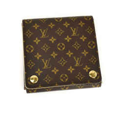 "LOUIS VUITTON: Brown, Monogram ""LV"" Logo Jewelry Case (mq)"