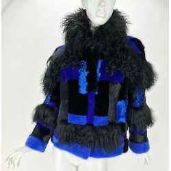 New Versace Mixed Fur Jacket 42 - 6