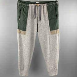 Kolor Size L Grey & Green Mixed Fabrics Wool / Cashmere Sweatpants