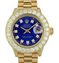 Rolex Lady Datejust 1.50CTW Diamond Dial Diamond Bezel 26mm Watch