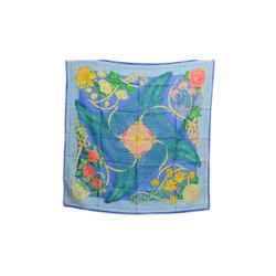 Auth Hermes Vintage 100% Silk Scarf Fleurs de l'Opera Abadie Blue Flowers 90cm