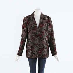 Erdem Jasper Floral Jacquard Blazer Jacket SZ 6