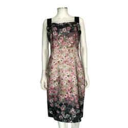Valentino Multi-color Floral Wide Strap Bow Dress Size 8