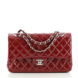 Classic Double Flap Bag Quilted Patent Medium