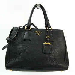 Prada Women's Leather Handbag,Shoulder Bag Black BF523789