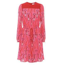Valentino Pink Zandra Rhodes Print Dress