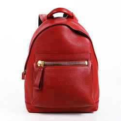 Tom Ford Backpack Red Leather Zipper