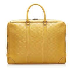 Yellow Louis Vuitton Damier Infini Porte-Documents Voyage Bag