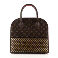 Christian Louboutin Shopping Bag Calf Hair and Monogram Canvas