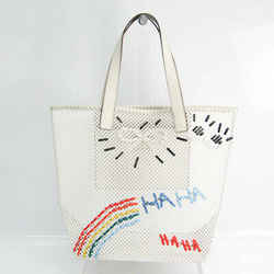 Anya Hindmarch Rainbow Woven Women's Leather,Mesh Tote Bag Multi-color, BF523095