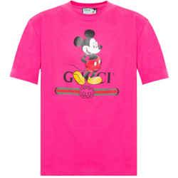 NEW Gucci Pink Medium Disney Cotton Crewneck T-Shirt