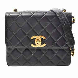 Auth Chanel Matrasse Deca Coco Chain Shoulder Leather Bag