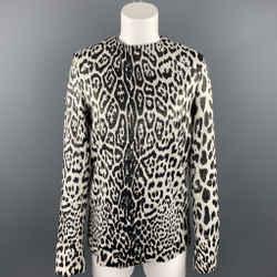 HAIDER ACKERMANN Silver & Black Leopard Print Silk Blend Blouse