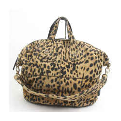 Givenchy Suede Leopard Cheetah Nightingale 2way Bag  863257