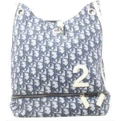 Dior      Blue Monogram Trotter Sling Backpack 6dior122