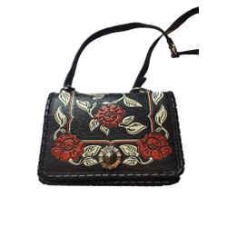 Miu Miu Prada Women's Black Madras Flor Handbag 5bd035