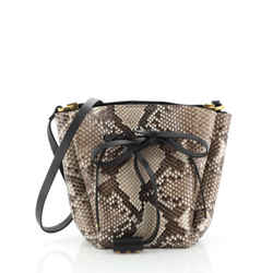 VLogo Bucket Bag Python Medium