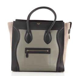 Tricolor Luggage Bag Leather Medium