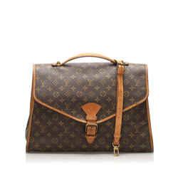 Vintage Authentic Louis Vuitton Brown Monogram Beverly Briefcase GM France