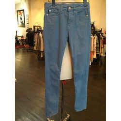 Love Moschino Sz 25 Blue Skinny Heart Pockets Jeans 443-4-6819