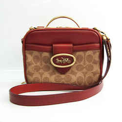 Coach Signature Riley Lunch Box Bag 703 Women's Leather,Coated Canvas H BF528500