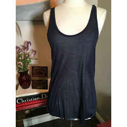 L'agence Size 2 Navy Blue Shell Tank Top Nwt- 2400-746-12820