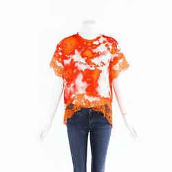 MSGM 2019 Tie Dye Lace Top SZ 44