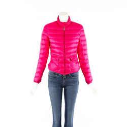 Moncler Jacket Lans Pink Down Filled Puffer SZ 1