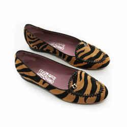 Salvatore Ferragamo Tiger Print Driving Loafer
