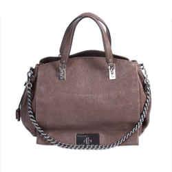 Celine Chain-link Leather Shoulder Bag