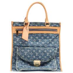 Louis Vuitton Rare Limited Denim Monogram Sac Plat Tote 861863