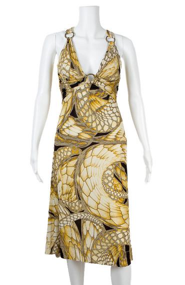 Just Cavalli Snake Print Dress