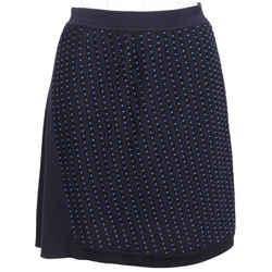 ROBERTO CAVALLI Sweater Knit Skirt Beaded Blue Navy Sz 44